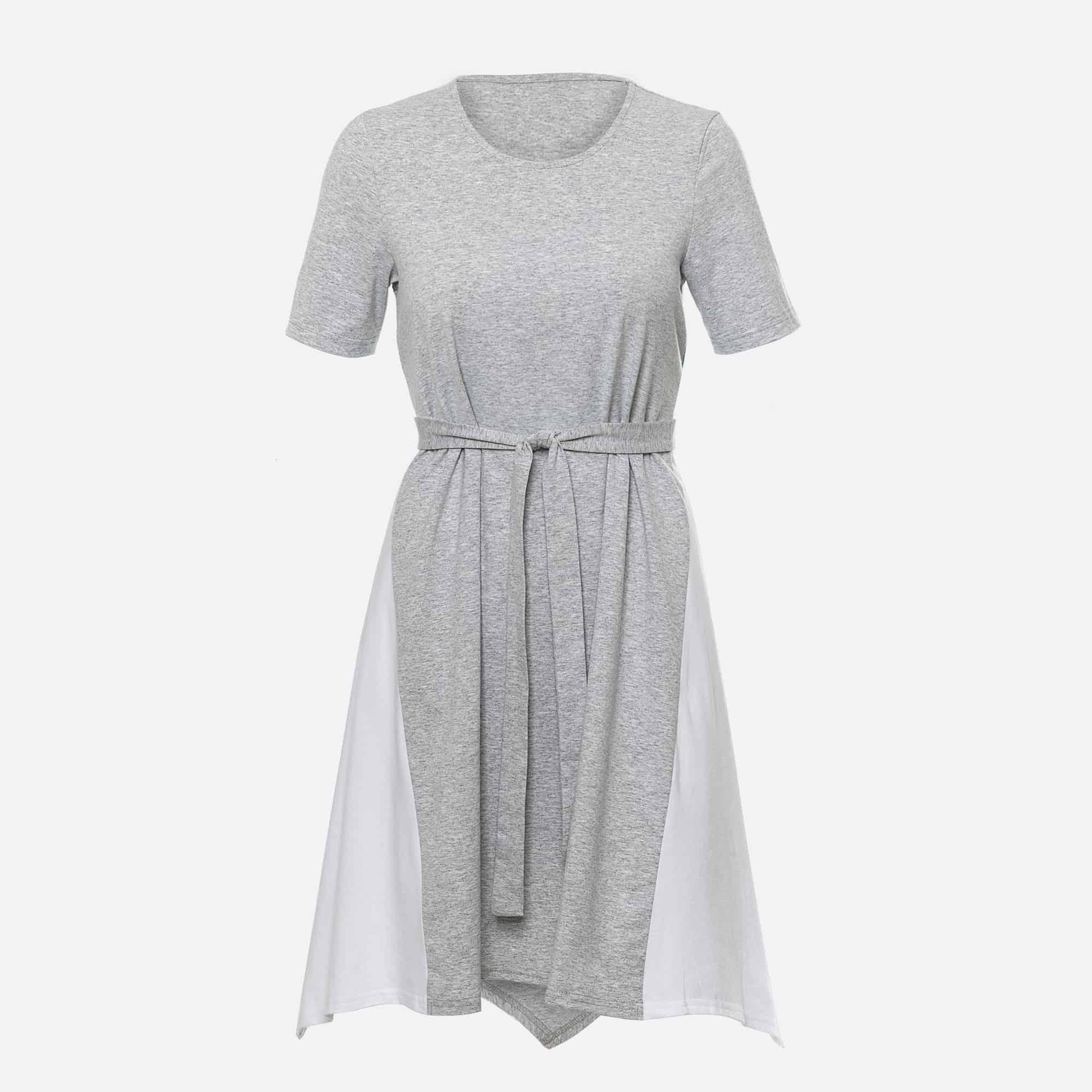 946b224986a Marat - Naiste puuvillane kleit valgete detailide ja vööga